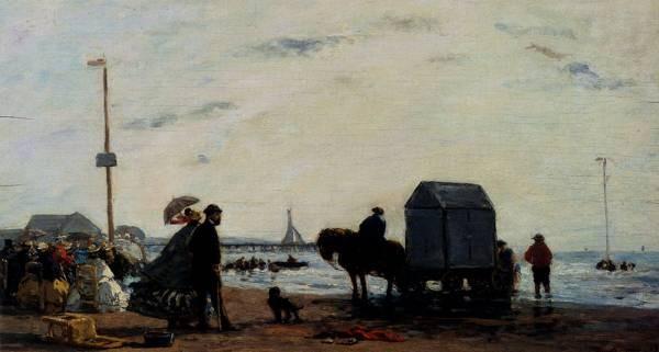 Monet Beach Scene Trouville 1863